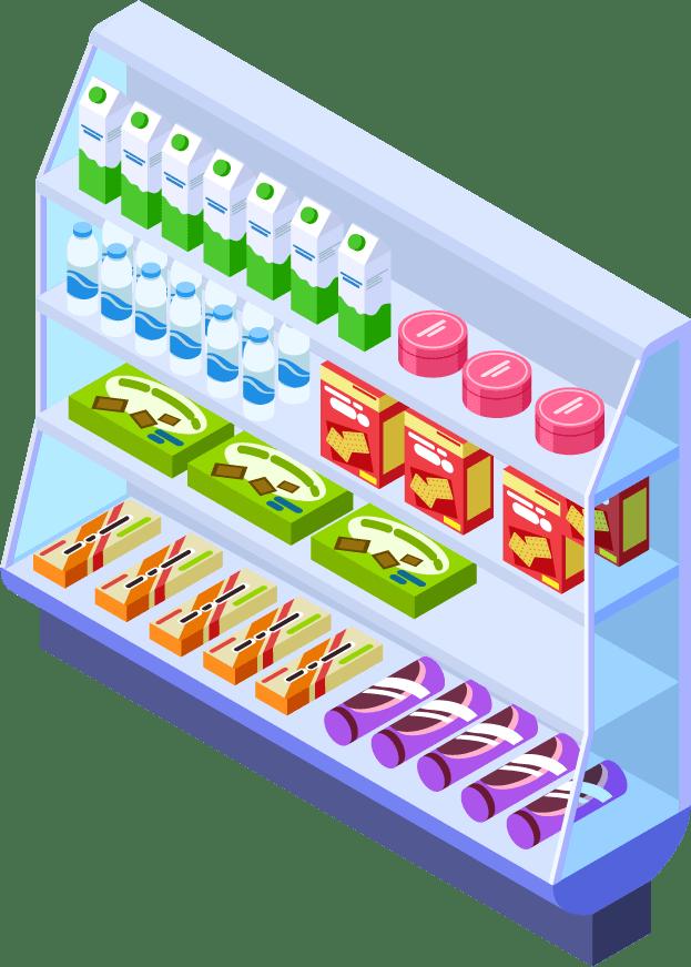 卵・生鮮食品コーナー