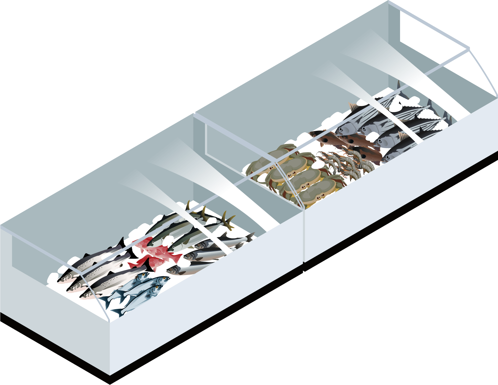 鮮魚・刺身コーナー