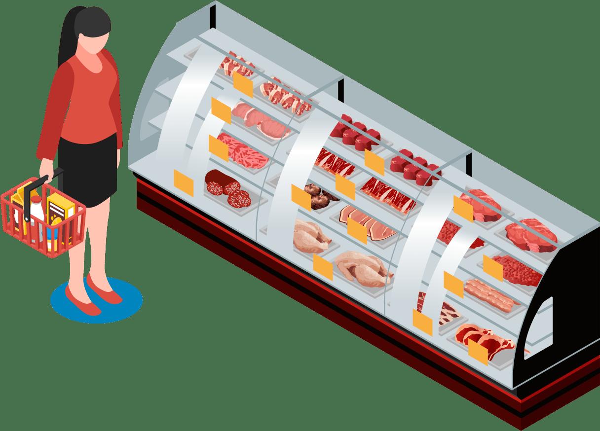 精肉・加工肉コーナー